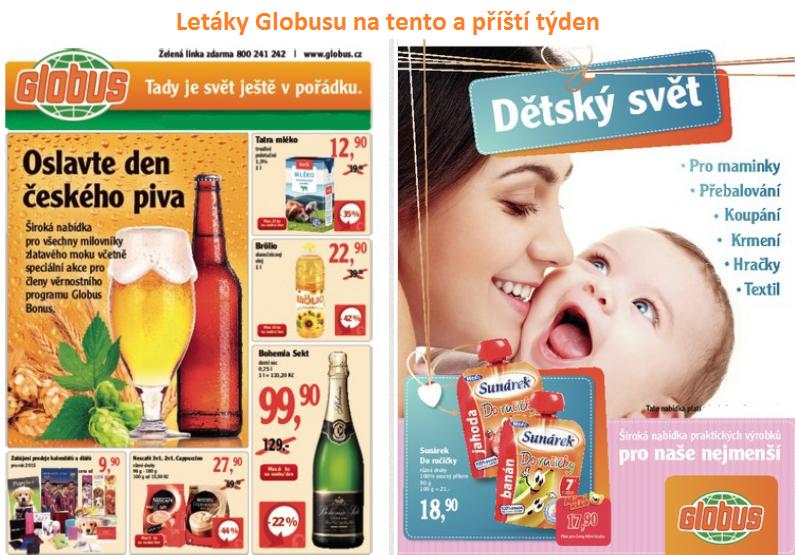 Letáky a katalogy Globusu na tento a příští týden