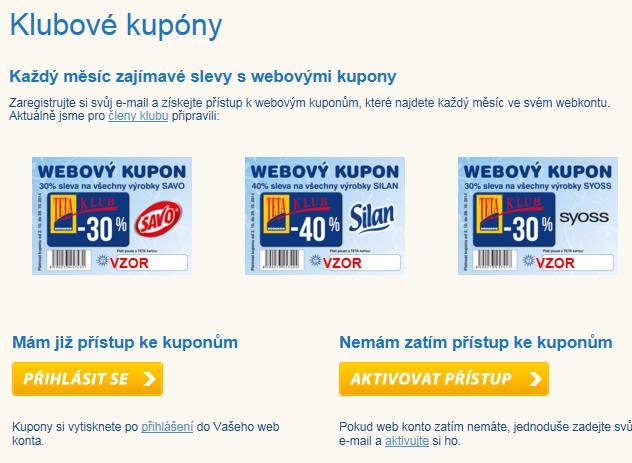 Slevové kupóny Tetadrogerie.cz