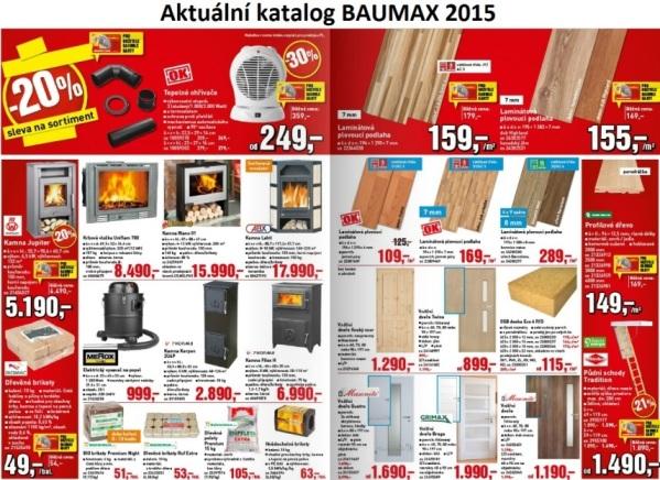 Aktuální katalogy a letáky zboží Baumax.cz pro rok 2015