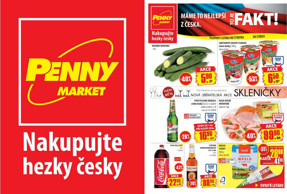 Letáky Penny Marketu na tento a příští týden