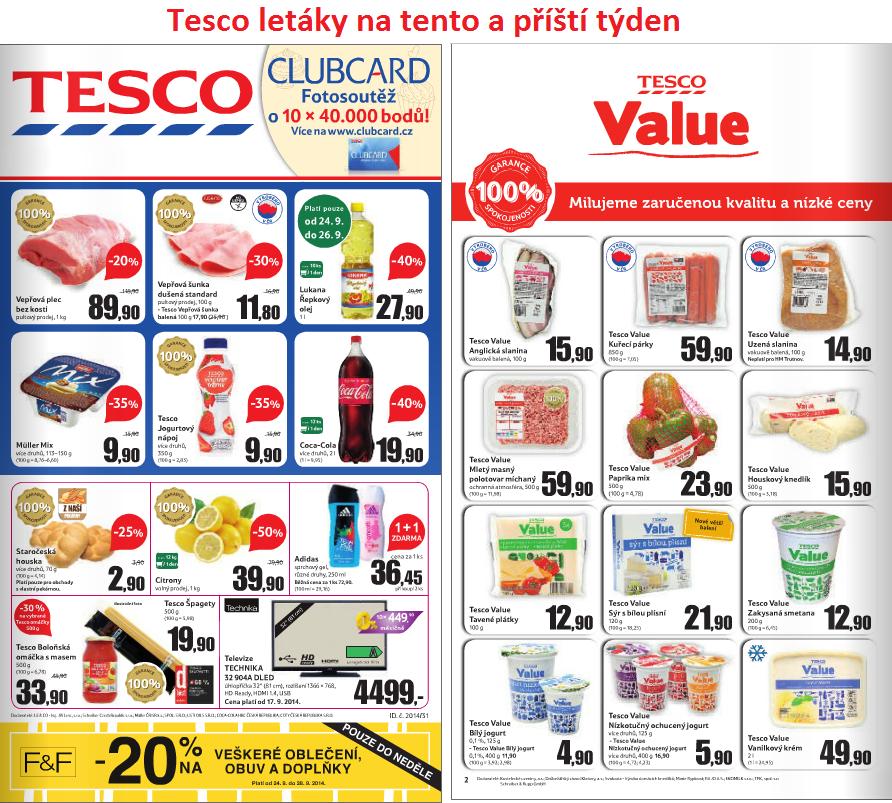 Letáky Tesco Supermarket a Hypermarket na tento a příští týden