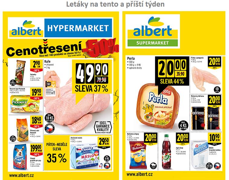 Aktuální letáky Albert supermarketu a hypermarketu na tento a příští týden