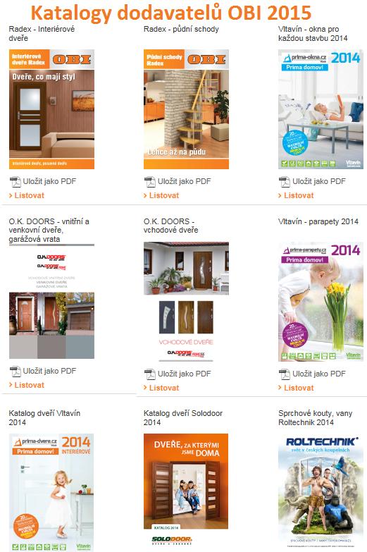 Katalogy dodavatelů OBI 2015
